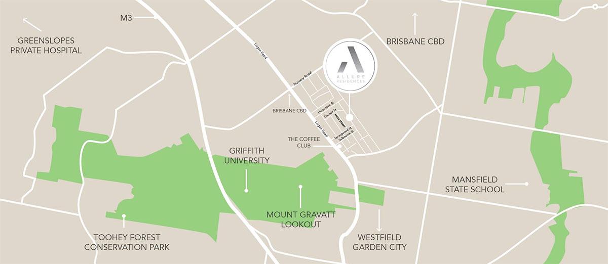 Allure Residences location